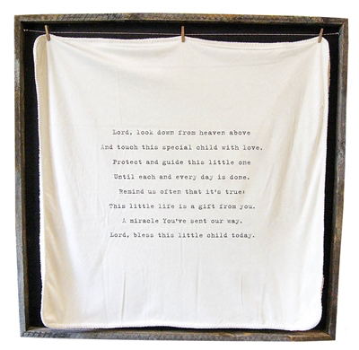 """Baby Blanket - Lord Look Down - 36"""" x 36"""""""