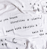 """Swaddle Blanket - May You Touch Fireflies 47"""" x 47"""""""