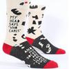 My Head Says Who Cares Men's Socks
