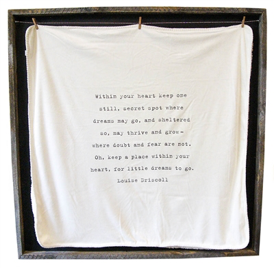 """Baby Blanket - Within Your Heart - 36"""" x 36"""""""