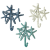 "Starfish Cluster Wall Hook  6 1/8"" W. x 1 3/4"" D. x 6 1/2"" H."