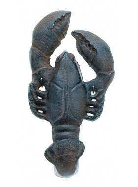"""MOBY DICK SPECIALTIES Lobster Hook Cast Iron - Rust Finish 5.5""""H x 3""""W"""