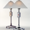 """Industrial Table Lamp - Brushed Pewter 14""""R x 24""""H, (60 W - 75 W bulb not included)"""