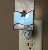 """Night Light - Starfish Clear & Blue 2.5"""" x 5.5"""" x 1.5"""""""