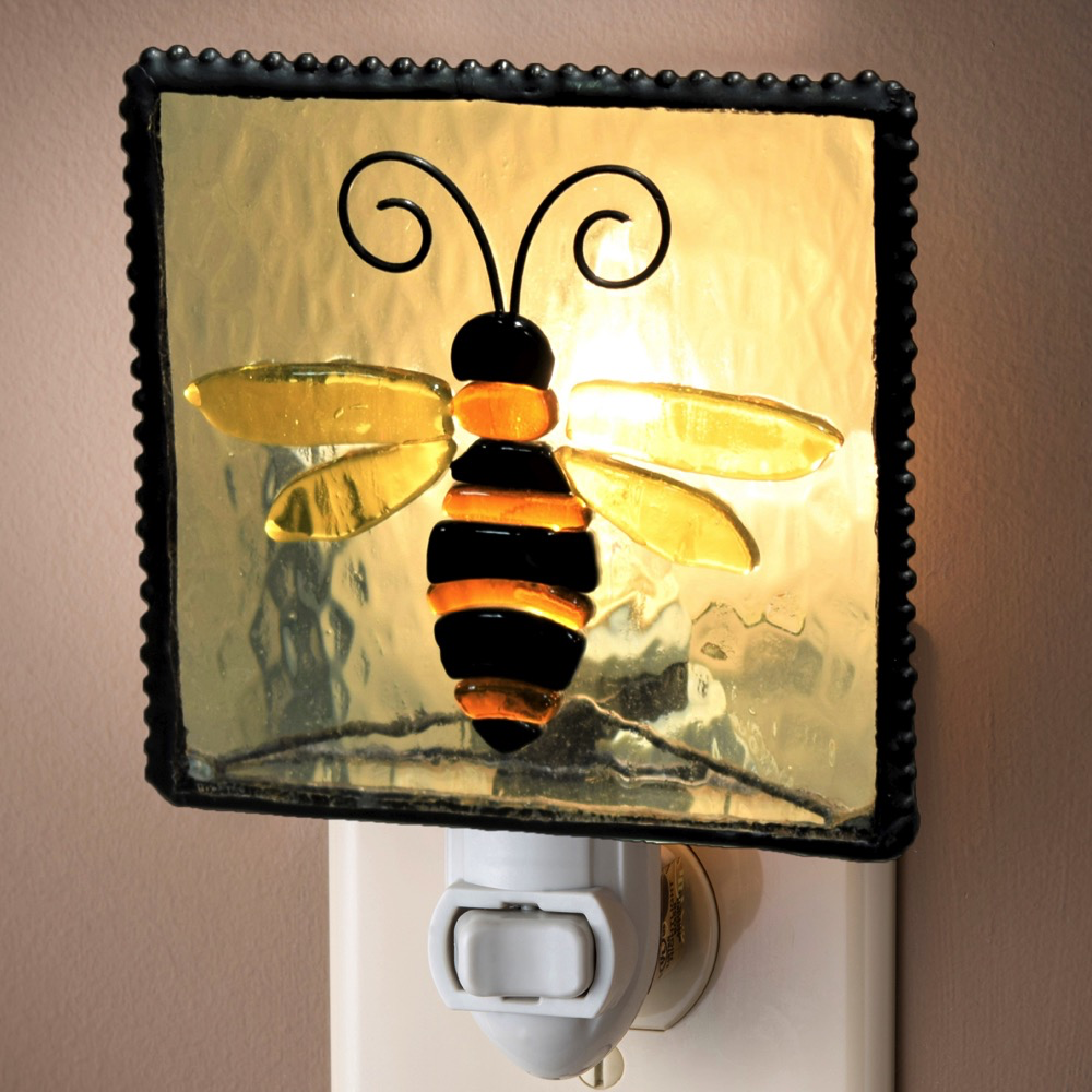 "Night Light Bee 3""  2.5"" x 4.5"""