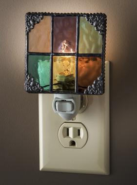 "Night Light - English Muffle Multi Colors 3"" x 1.5"" x 4.5"""
