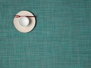 """Chilewich Mini Basket Table Mat - Turquoise 14"""" x 19"""""""