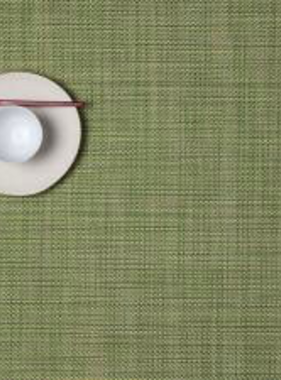 "Chilewich Mini Basket Table Mat - Dill 14"" x 19"""