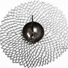 """Chilewich Pressed Dahlia Table Mat - Silver 14.25"""" x 15.25"""""""