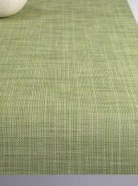 """Chilewich Mini Basketweave Table Runner - Dill 14"""" x 72"""""""