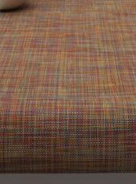 """Chilewich Mini Basketweave Table Runner - Confetti 14"""" x 72"""""""
