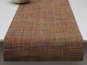"Chilewich Mini Basketweave Table Runner - Confetti 14"" x 72"""