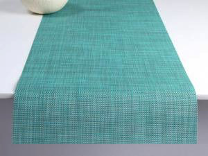 "Chilewich Mini Basketweave Table Runner - Turquoise 14"" x 72"""