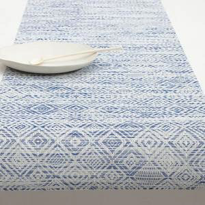 """Chilewich Mosaic Table Runner - Blue 14"""" x 72"""""""