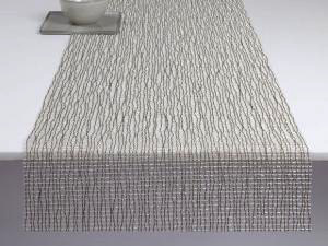 "Chilewich Lattice Table Runner - Silver 14"" x 72"""