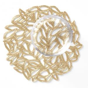 """Chilewich Petal Coasters (Set of 6) - Champagne  5"""" x 5"""""""