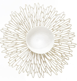 """Chilewich Bloom Table Mat - Champagne Round 15"""""""