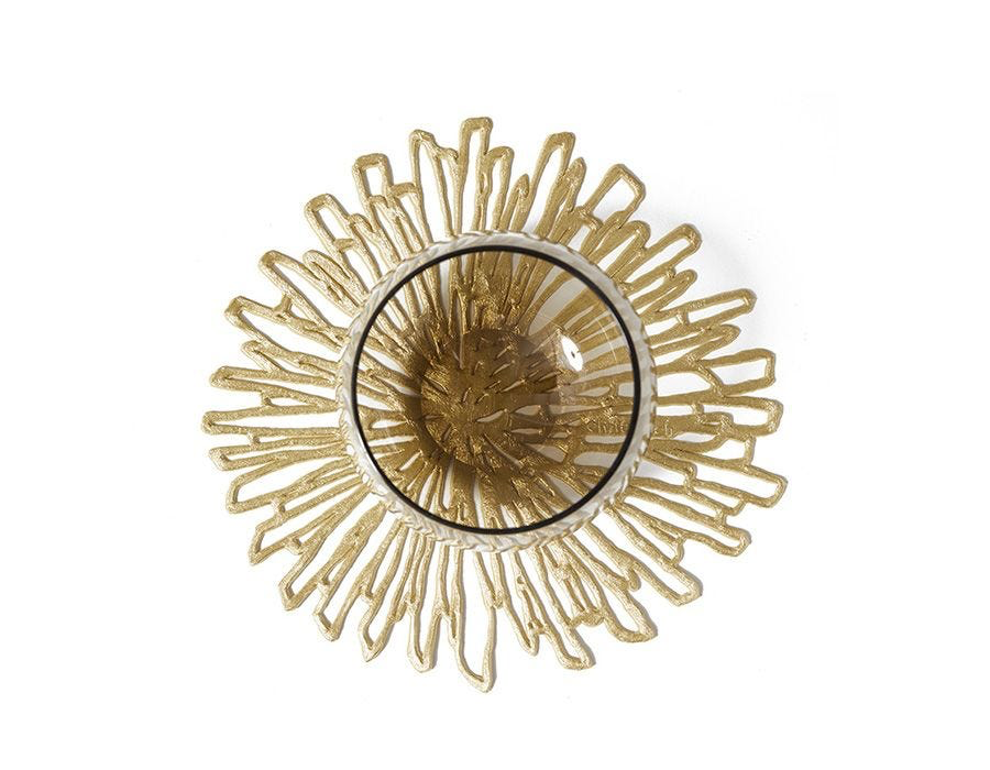 """Chilewich Bloom Coasters (Set of 6) - Gilded Gold 4.8"""" x 5"""""""