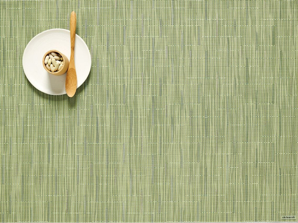 "Chilewich Bamboo Table Mat - Spring Green 14"" x 19"""