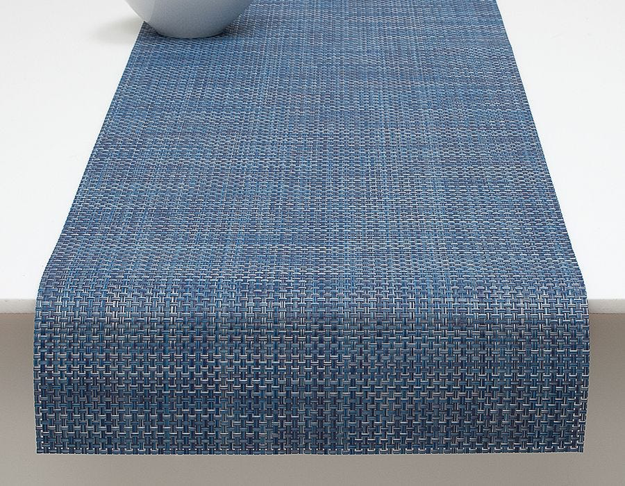 "Chilewich Basketweave Table Runner Denim 14"" x 72"""