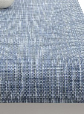 """Chilewich Mini Basketweave Table Runner - Chambray 14"""" x 72"""""""
