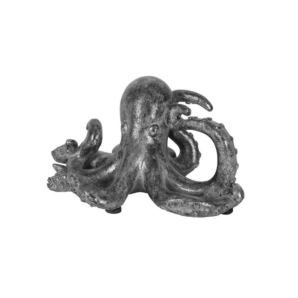 "Resin Octopus Silver 5""L"