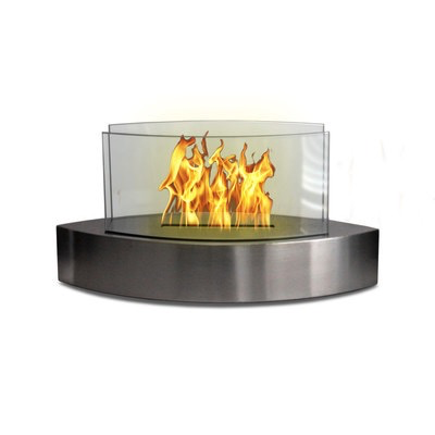 """Care Free Fireplace - Stainless Boat 20""""W x 9.5""""H x 8""""D"""