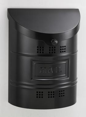 "Steel Mailbox - Black Matte Finish & Matching ""Mail"" Steel Label 11.25""W x 15""H x 4.5""D"
