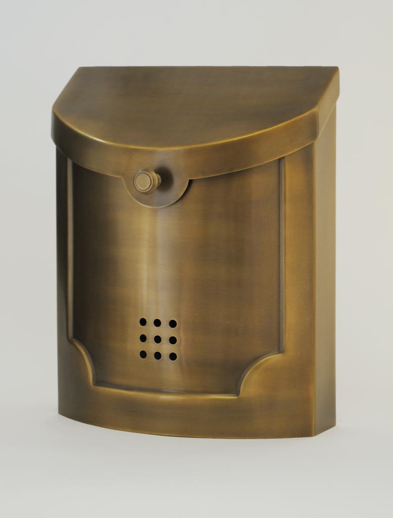 "Contemporary Mailbox Satin Brass 11"" x 14"" x 4.5"""
