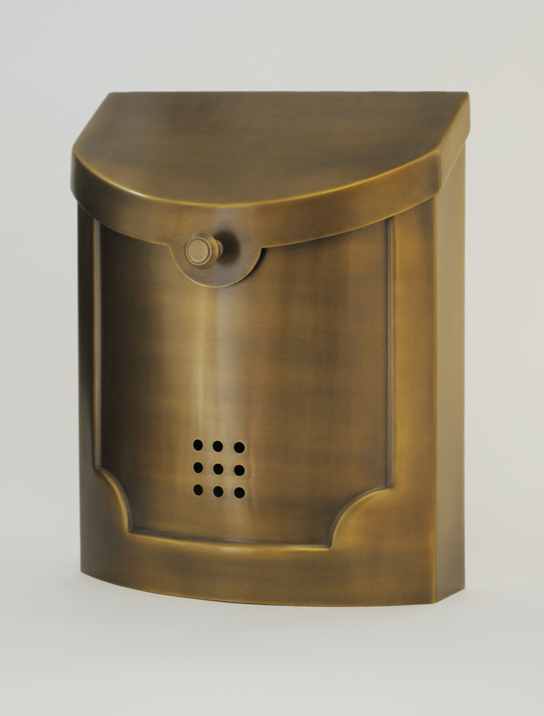 "Contemporary Mailbox Satin Brass 11"" x 14"" x 4.5"""