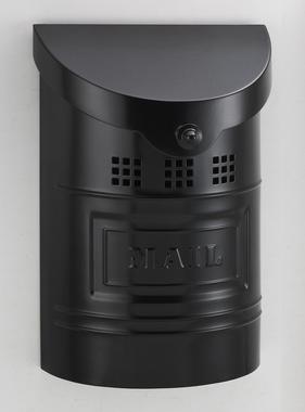 "Steel Mailbox - Black Matte Finish & Matching Steel ""Mail"" Label 8""W x 11"" H x 3.5""D"