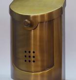 """Contemporary Mailbox Satin Brass 8.5"""" x 12""""H x 4""""D"""