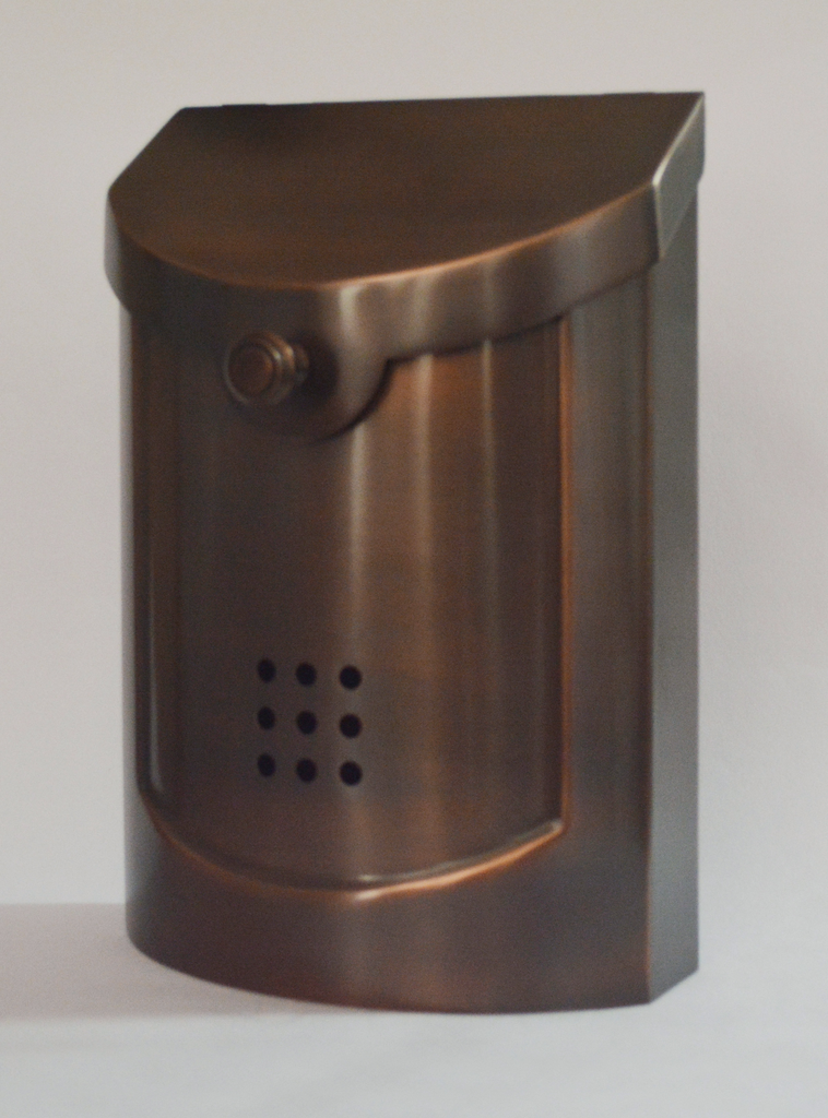 "Contemporary Mailbox Antique Copper 8.5"" x 12""H x 4""D"