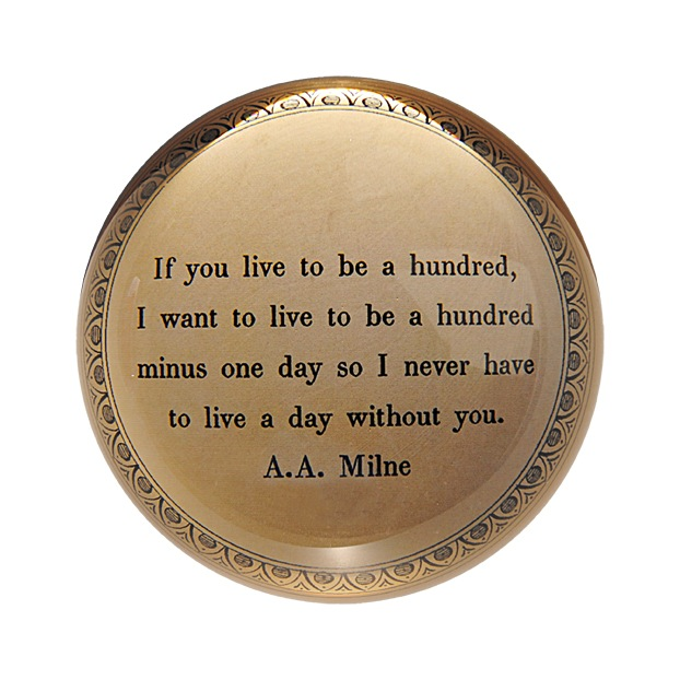 """If You Live To Be A Hundred Paperweight 4"""" x 4"""" PW114"""