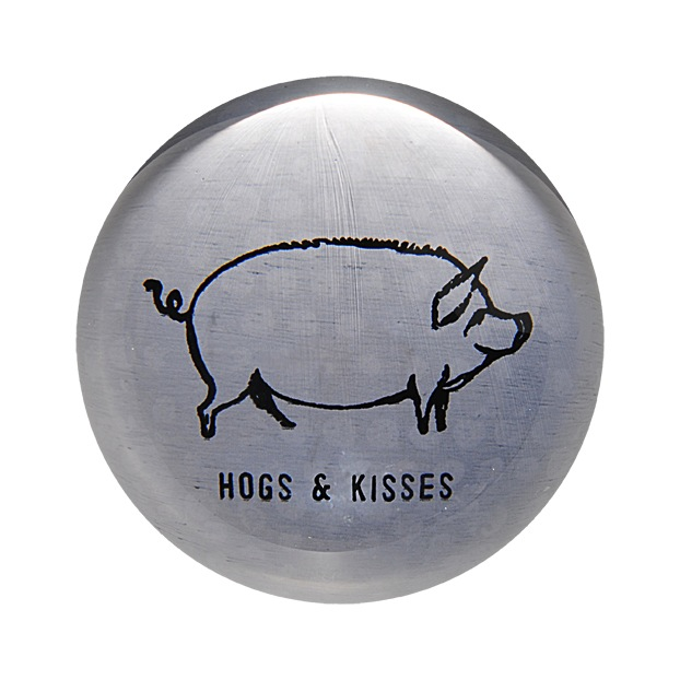 "Hogs & Kisses Paperweight 4"" x 4"" PW110"