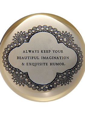 """Always Keep Your Beautiful Paperweight 4"""" x 4"""" PW100"""