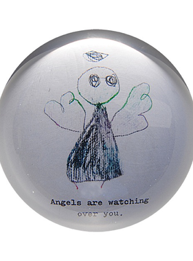 """(D) Angels Are Watching Over You Paperweight 4"""" x 4"""" PW102"""