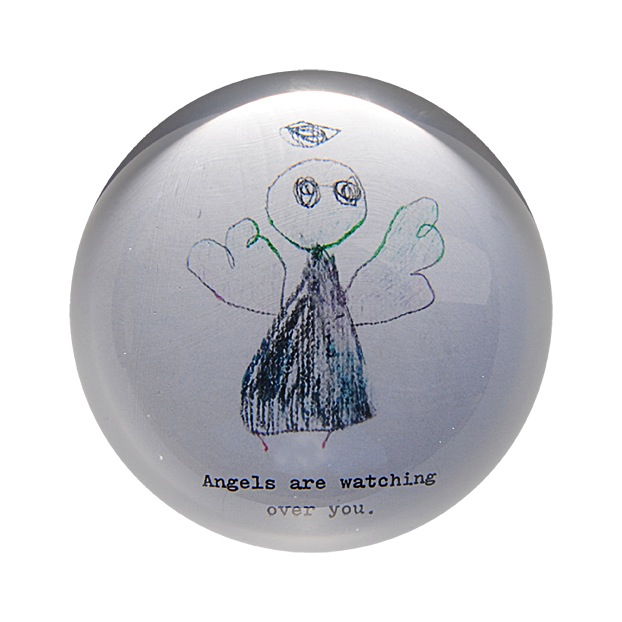 "Angels Are Watching Over You Paperweight 4"" x 4"" PW102"