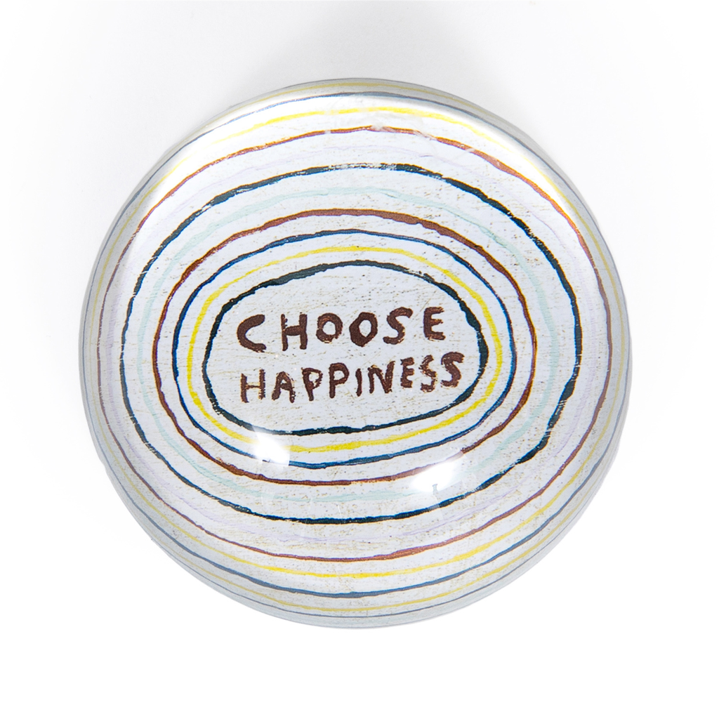 """Choose Happiness Paperweight  4"""" x 4"""" PW140"""