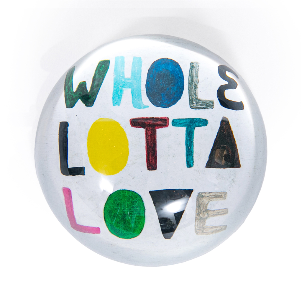 """Whole Lotta Love Paperweight  4"""" x 4"""" PW138"""
