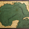 "Gulf of Mexico Wood Carving  24.5""L x 31""H"
