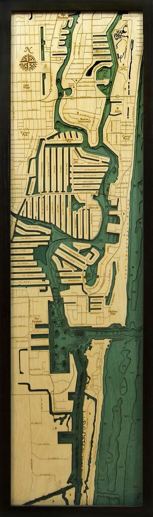"Fort Lauderdale Wood Carving 13.5""W x 43""L"