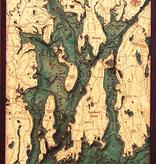"Narragansett/Newport Wood Carving 24.5""W x 31""L"