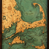"Cape Cod & The Islands Wood Carving 24.5""W x 31""L"