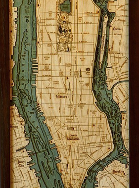 "Manhattan Wood Carving 13.5""W x 31""L"