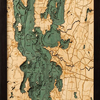 "Lake Champlain Wood Carving 13.5""W x 43""L"