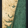 "New Jersey North Shore Wood Carving 13.5"" x 43"""