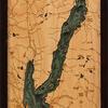 "Lake George Wood Carving 13.5"" x 43"""