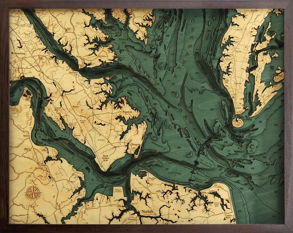 "Norfolk Wood Carving 24.5""W x 31""L"