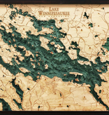 "Lake Winnipesaukee Wood Carving 24.5""L x 31""W"